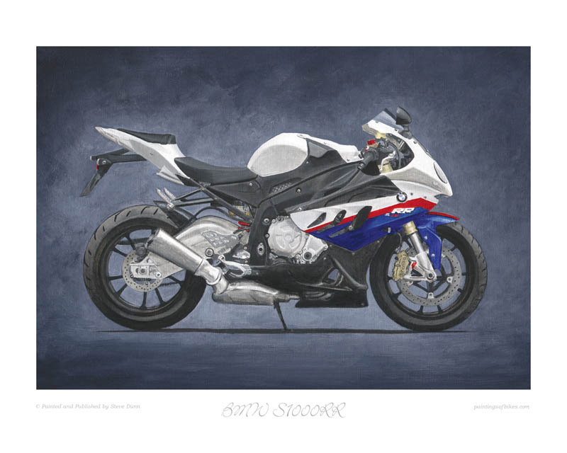 BMW S1000RR motorcycle art print