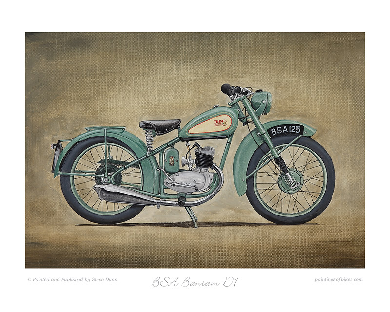 BSA Bantam motorcycle art print