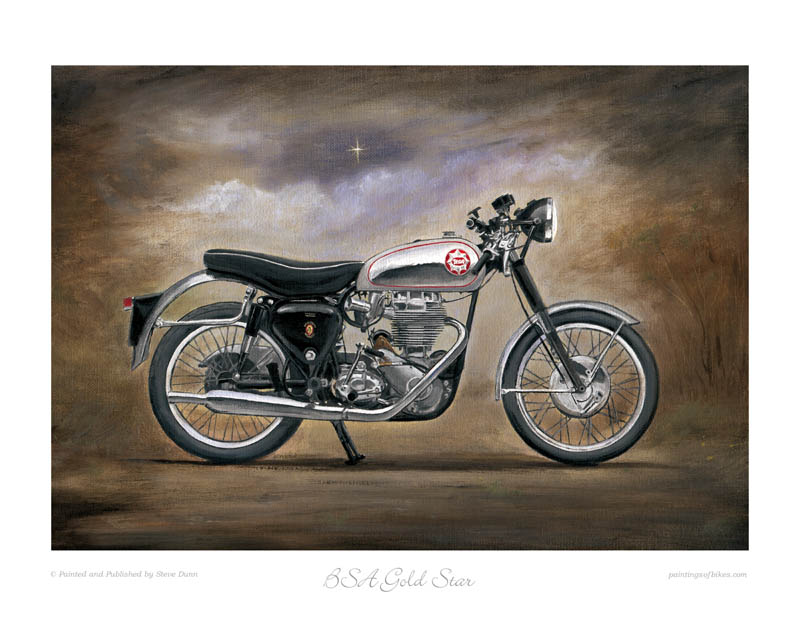 BSA Gold Star motorcycle art print