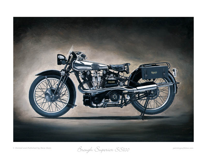 Brough Superior SS100 motorcycle art print