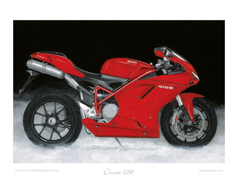 Ducati 1098 motorcycle art print