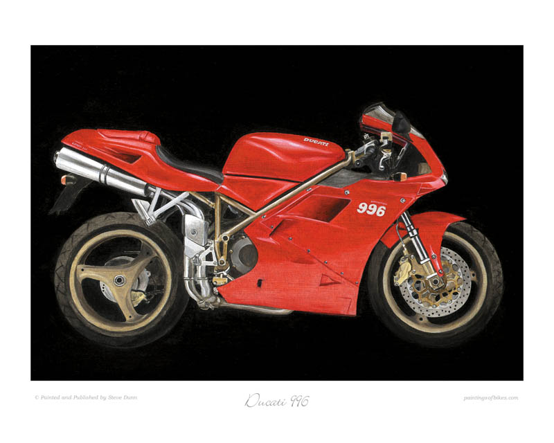 Ducati 996 motorcycle art print
