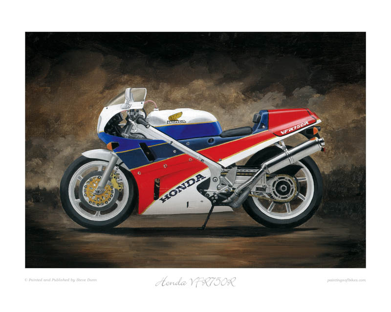 Honda RC30 motorcycle art print