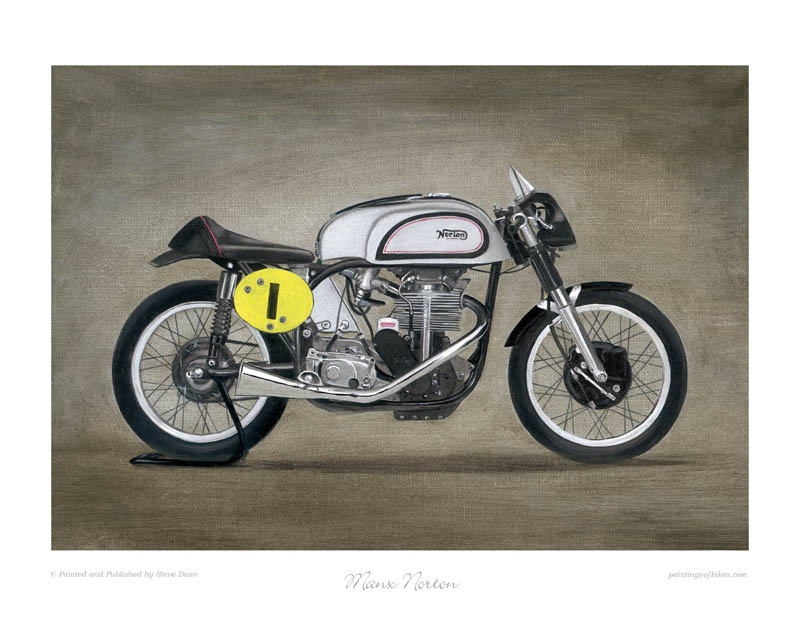 Manx Norton motorcycle art print