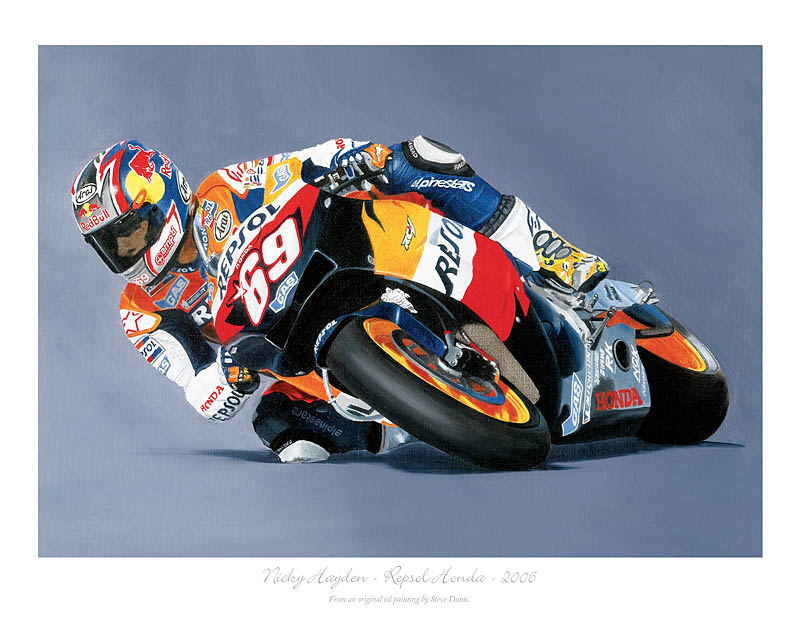Moto GP motorcycle art print