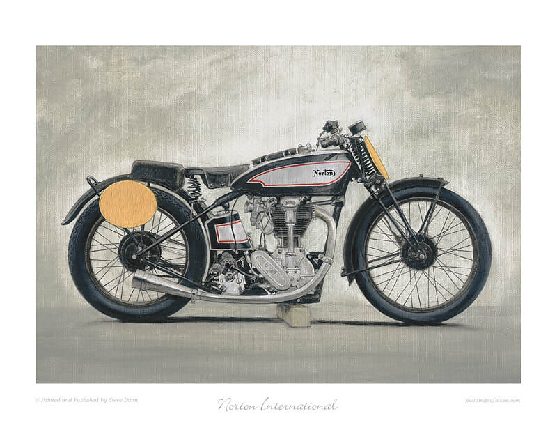 Norton motorcycle art print