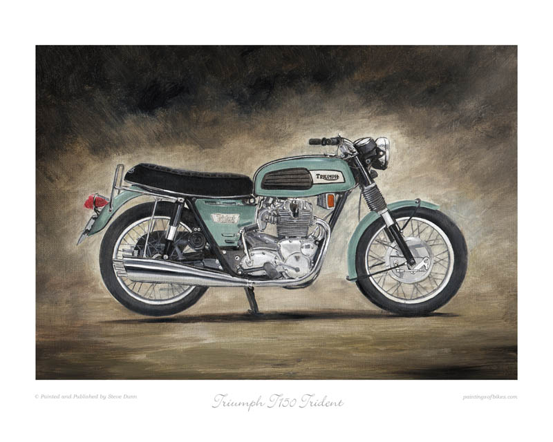 Triumph T150 Trident motorcycle art print