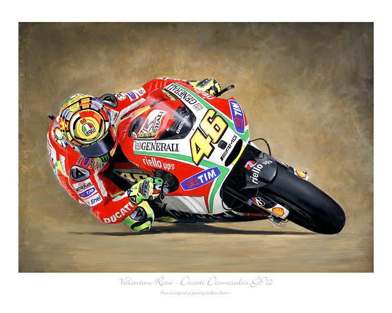 Valentino Rossi Ducati motorcycle art print
